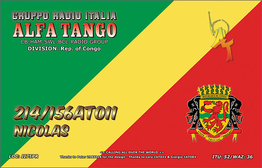 214/156 AT 011 Nicolas - Rep. of Congo