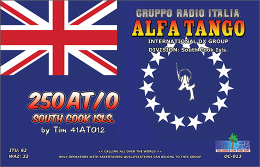 250 AT/0 - South Cook Islands
