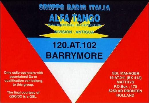 120 AT 102 Barrymore - Antigua & Barbuda