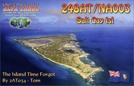 248 AT/NA 003 Salt Cay Isl. - Turks & Caicos Islands.
