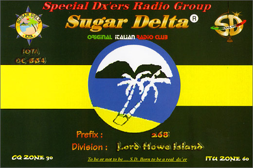 268 SD/DX - Lord Howe Isl.