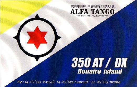 350 AT/DX Bonaire Island.