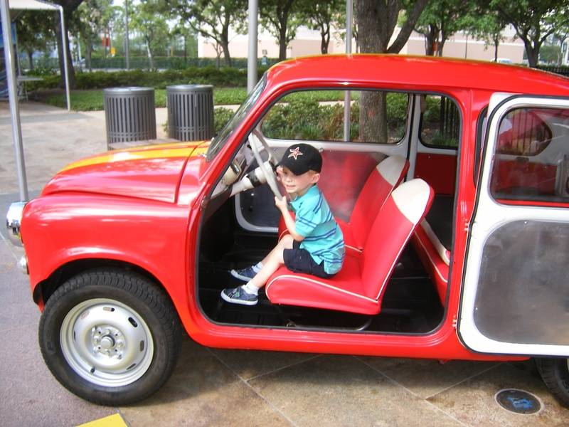 Lisi's son in the Fiat