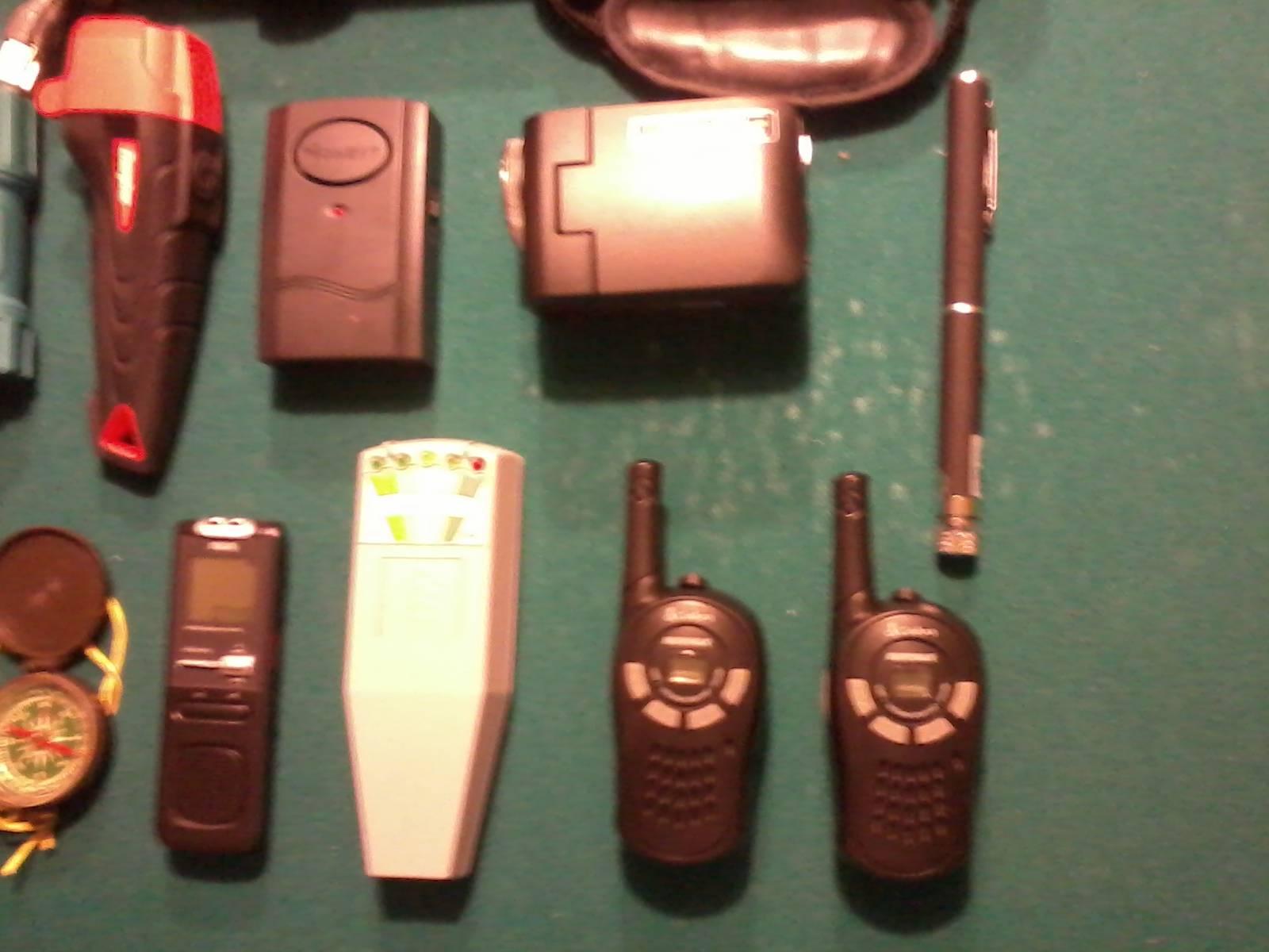 Full Spectrum Video Camera, Laser Light Grid Pen, Walkie Talkies