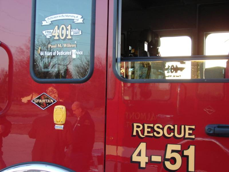 4-51 is dedicated to former Chief Wilcox