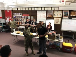 LTC Hodge awards the Second Place Winner