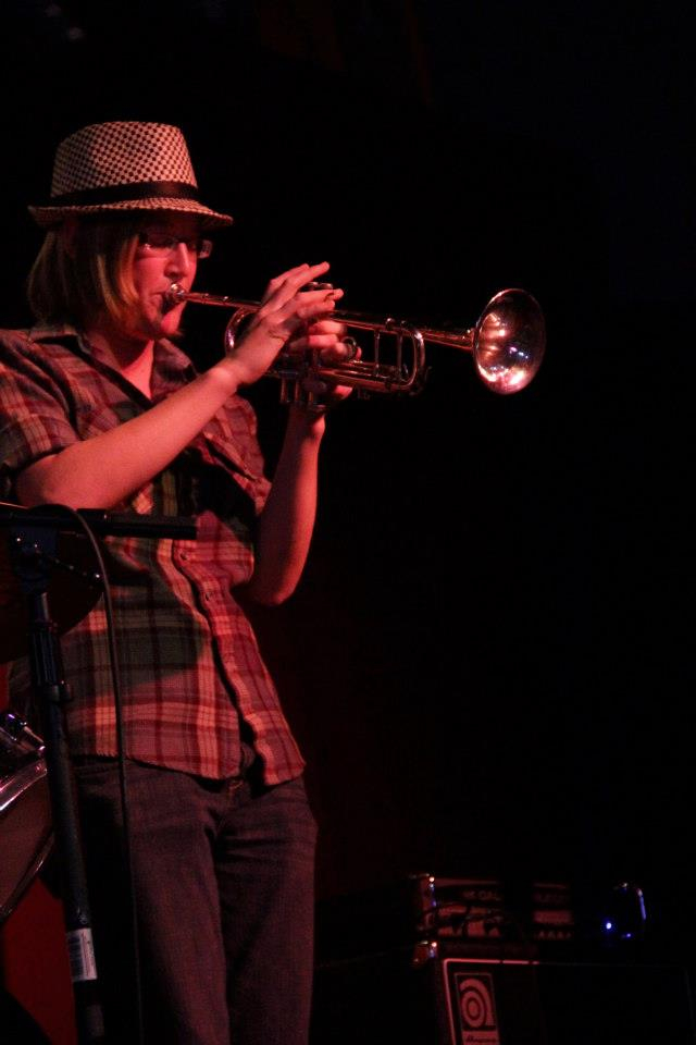 Anne Playing Trumpet