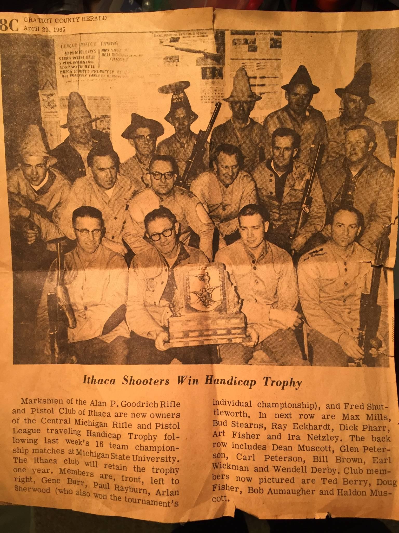 1965 Ithaca Rifle Team