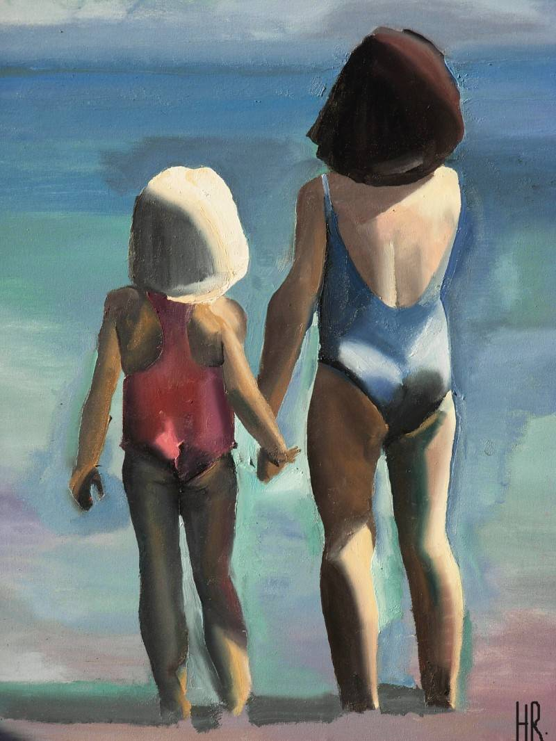"""together facing the sea"""