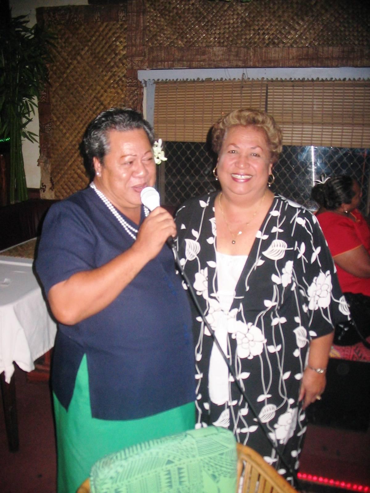 Mama Vena and Ms. Nancy Olo