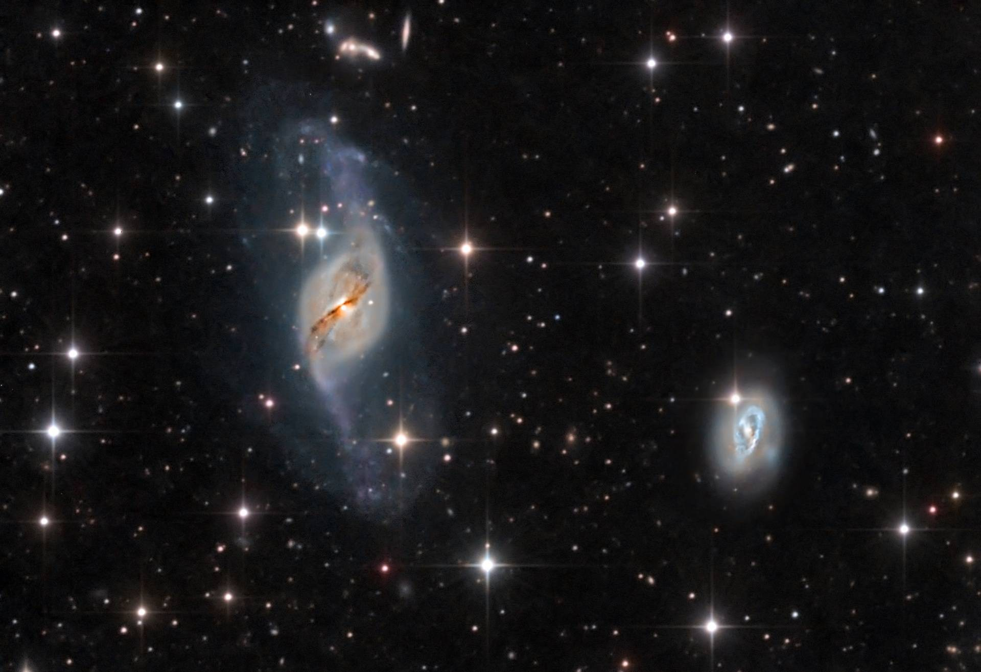 NGC 3718 y NGC 3729