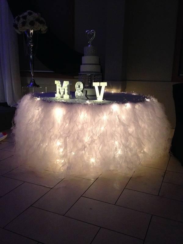 wedding cake table decoration