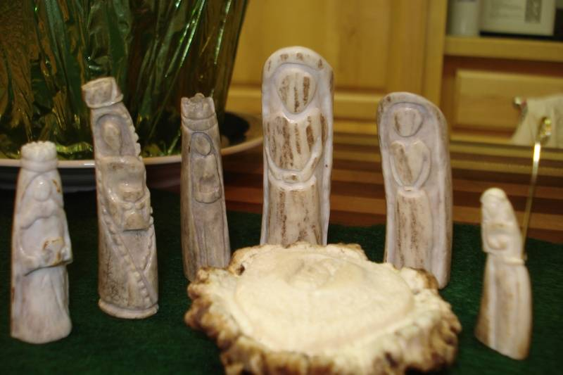 Deer Antler Nativity Scene