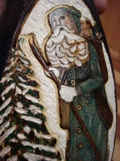 Father Christmas gourd-detail