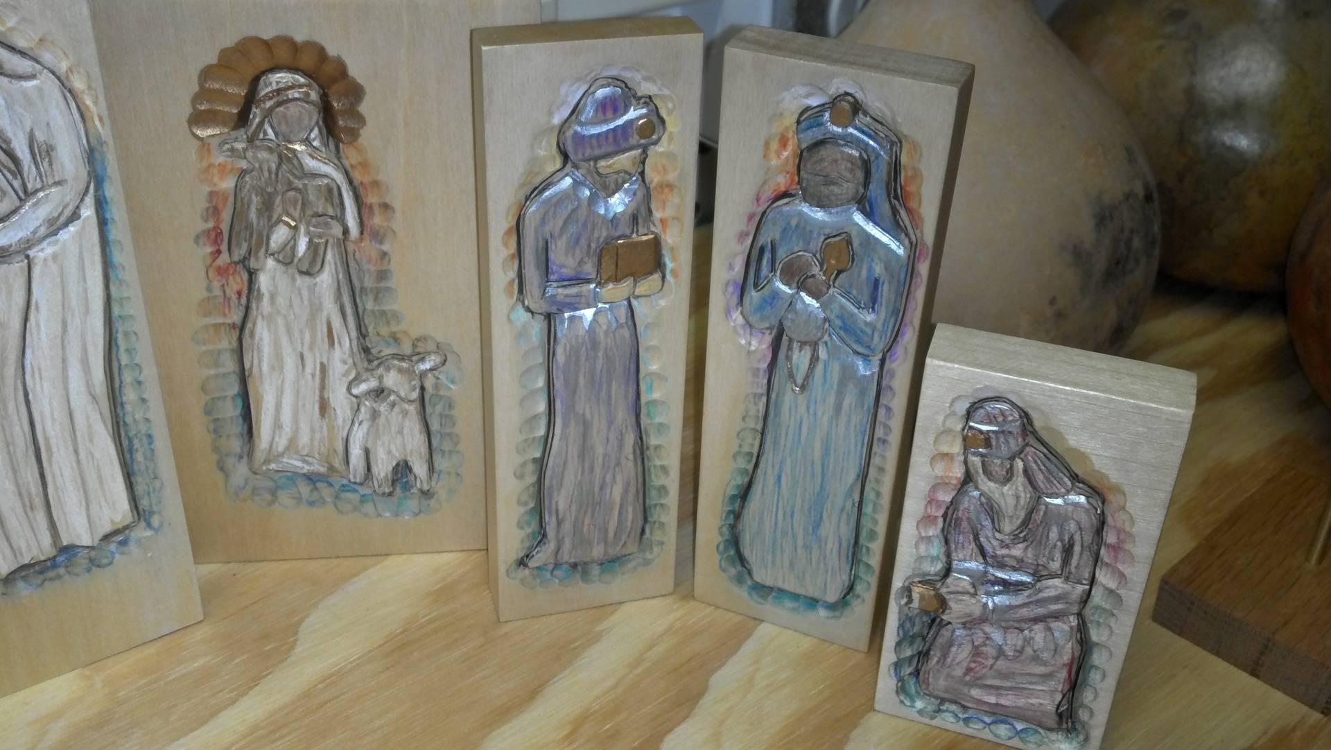 Nativity Scene carving