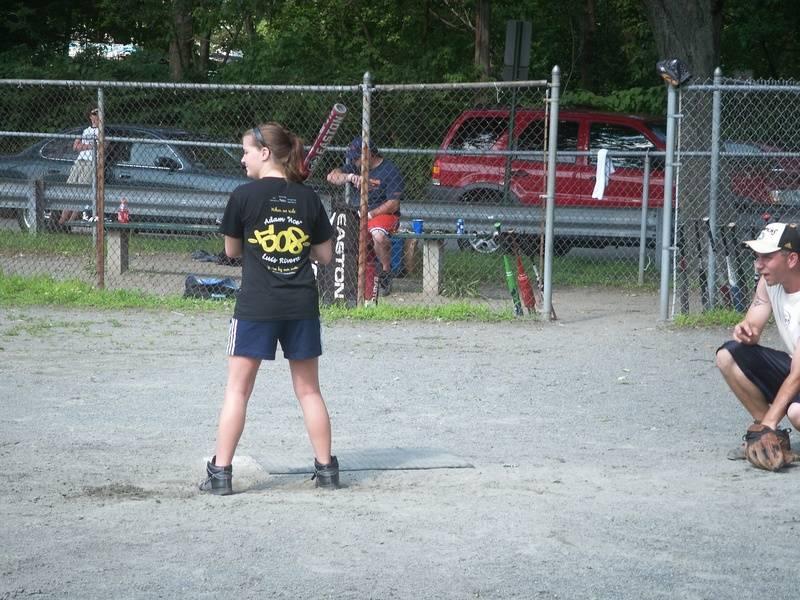 Kayla at bat
