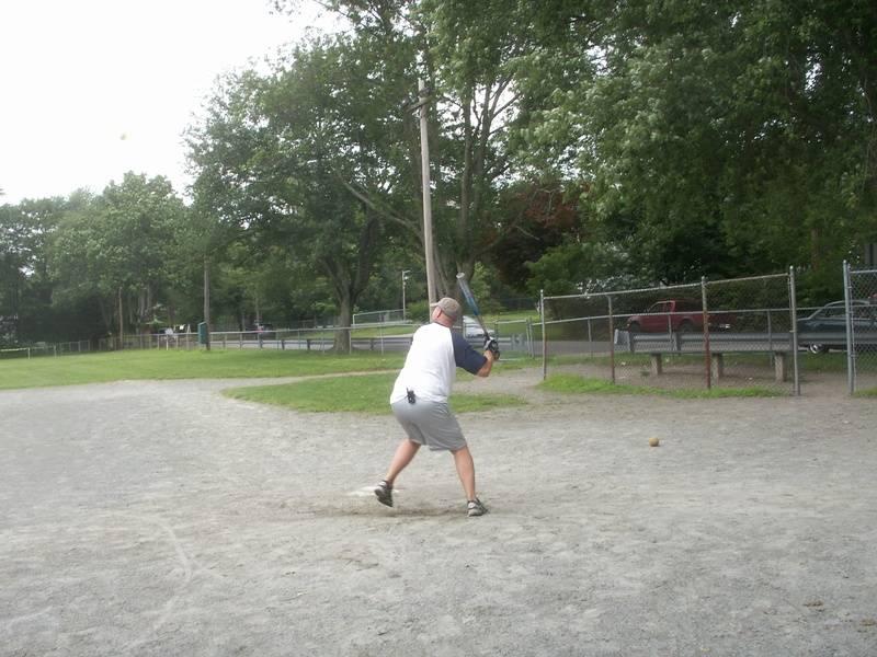 Joe during the homerun derby