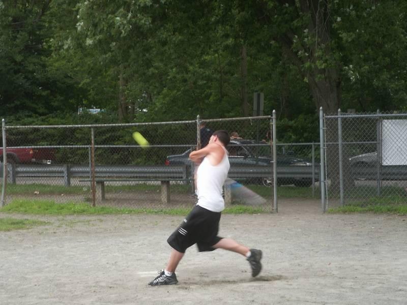 Dustin during the homerun derby