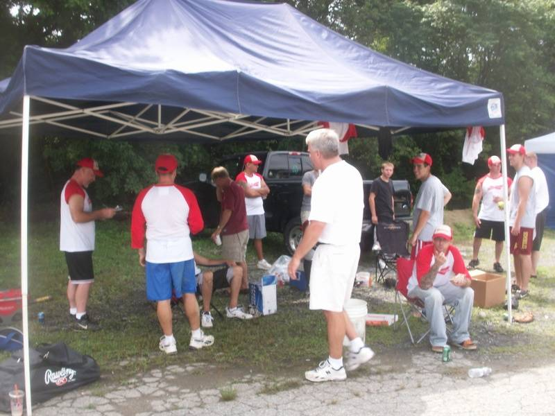 Teams were prepared with bringing their own canopy