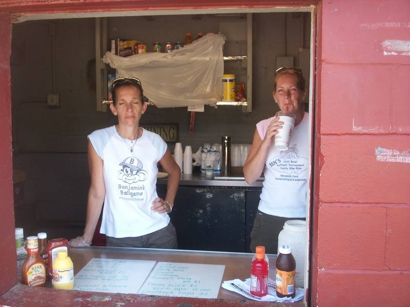 Liz & Amy taking care of the concession stand