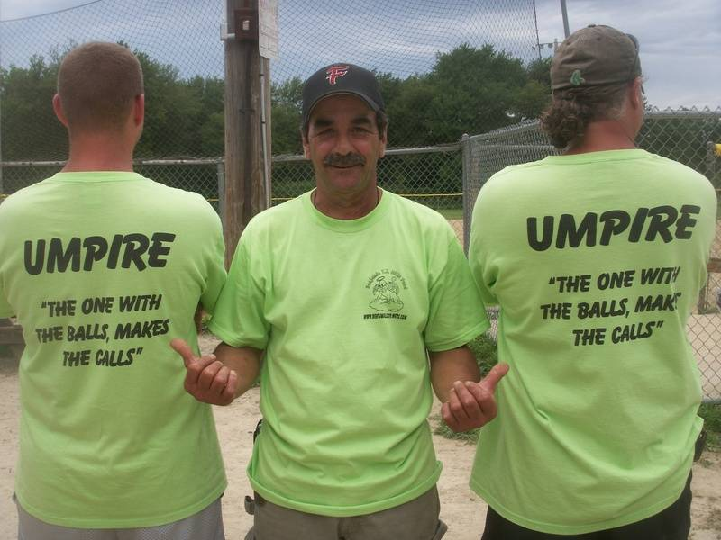 George Faria loved the umpire shirts!