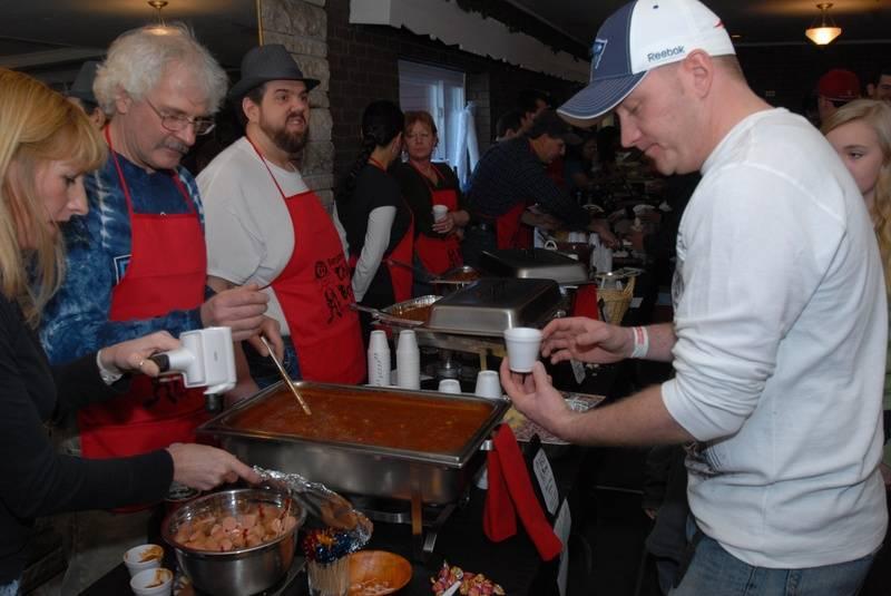 Jay enjoyed the chili tastings