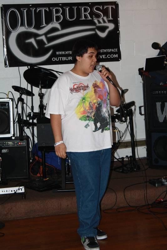 Aaron singing some karaoke!