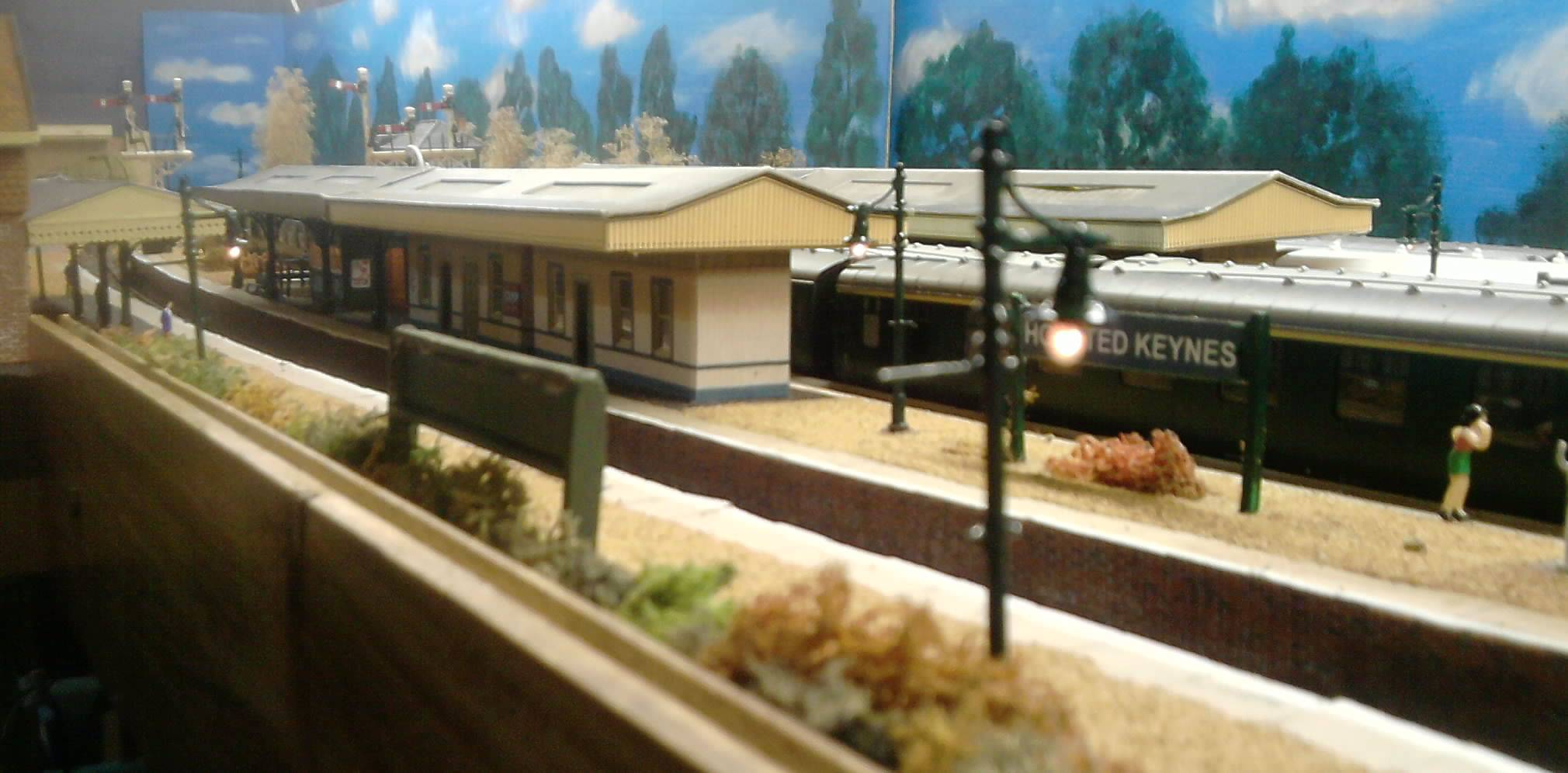 A view along the layout,