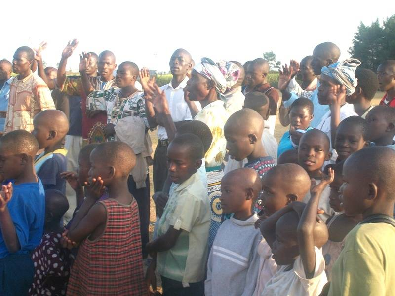Many children were touched by God