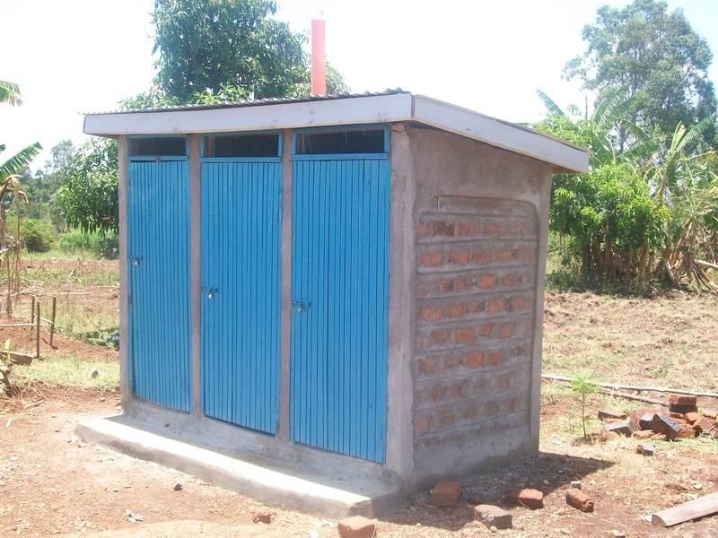 Our brand new latrines..praise God!