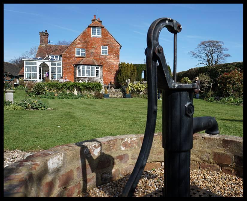 Butlers Farmhouse well in garden