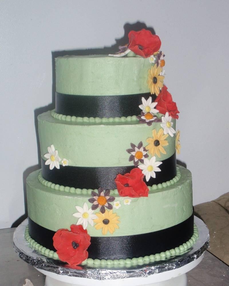 Wildflower Bridal Shower Cake