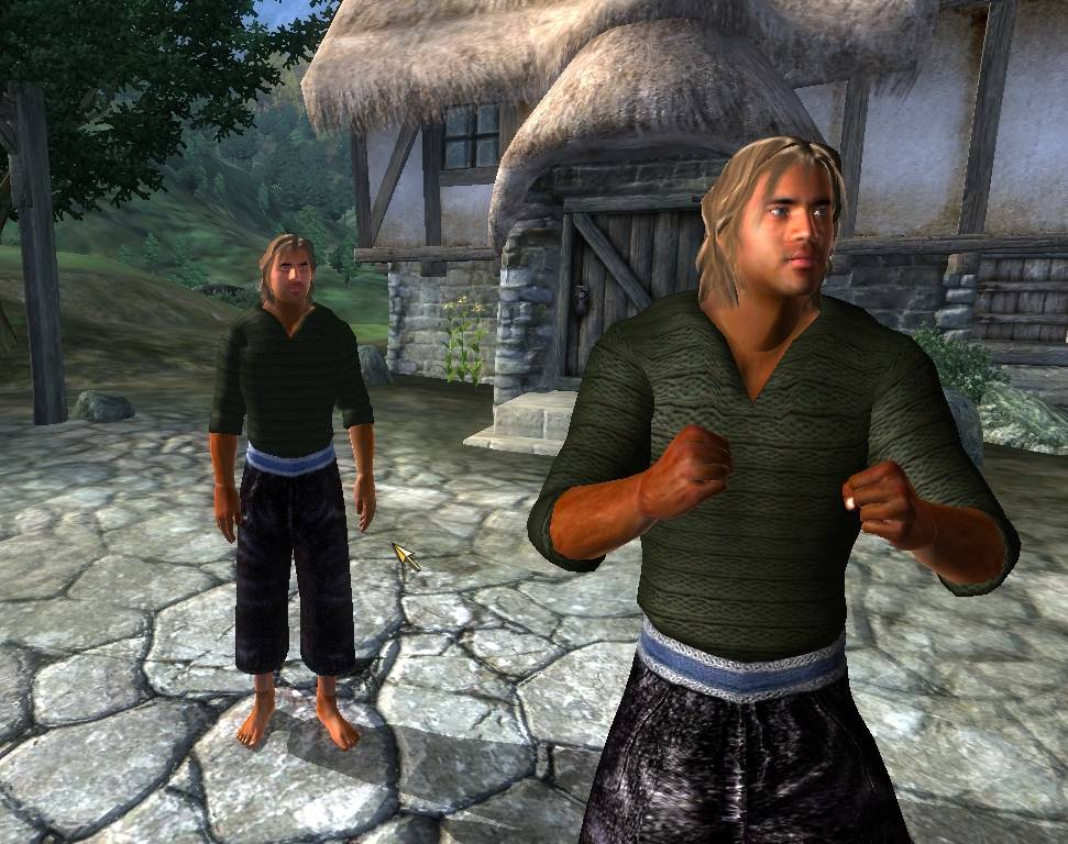 Male Green Sweater In-Game