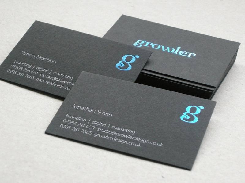 32. Growler Design.  Card Ebony 540gsm