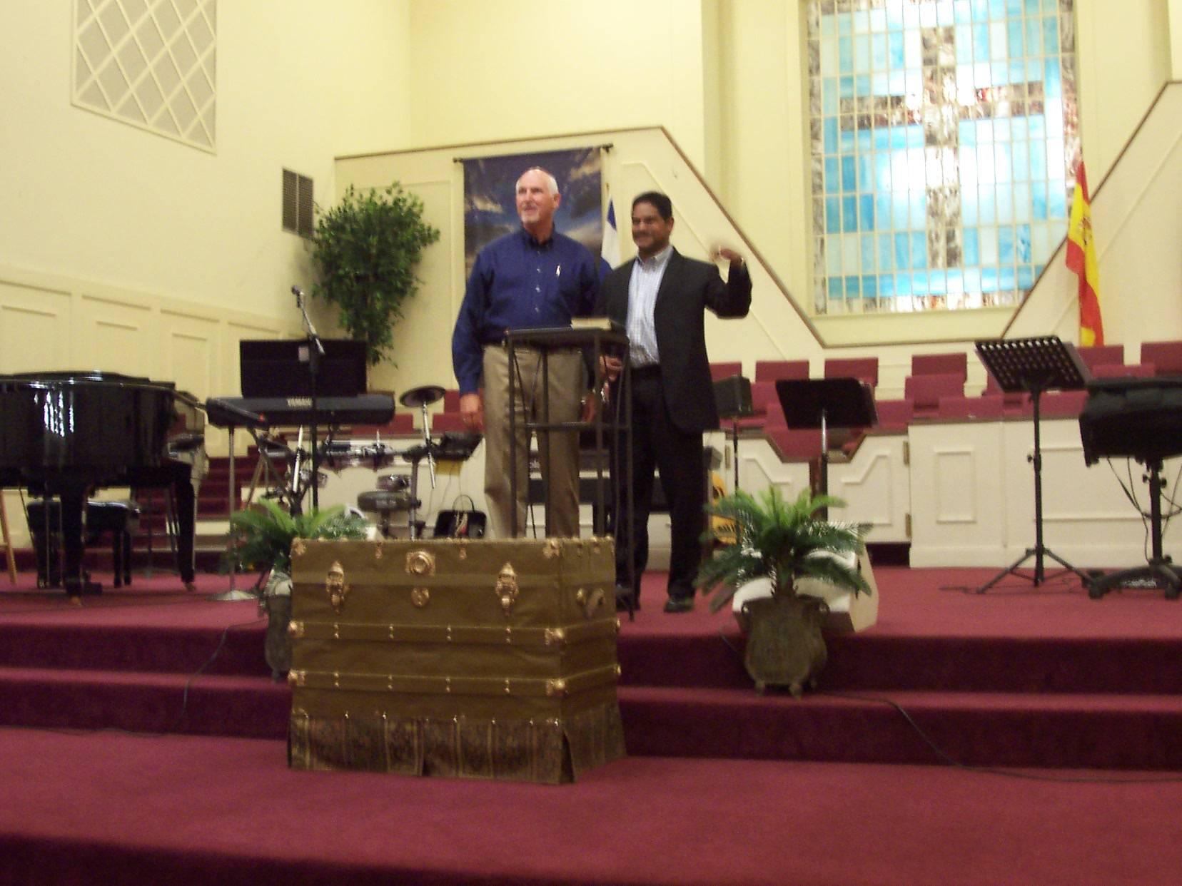 Pastor Kim Beckham and Missionary Winston Kumar