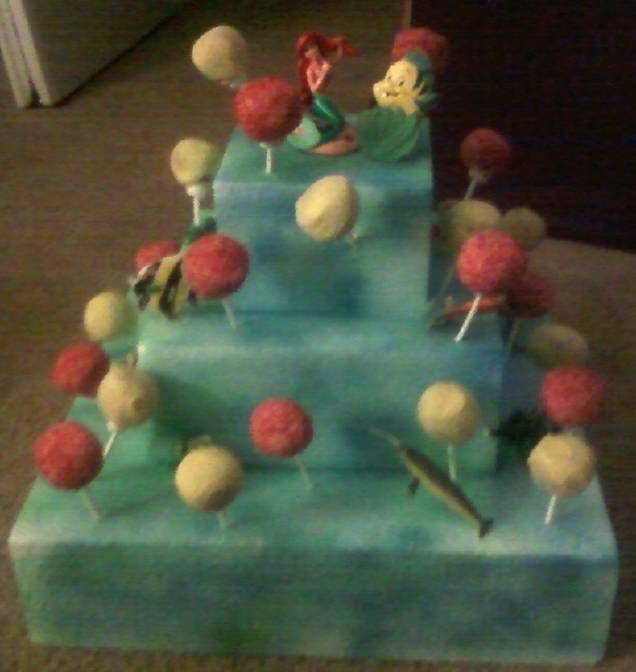 Alexis' Ariel Cake Pop Display
