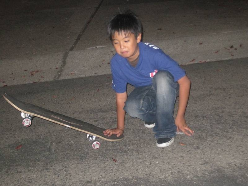 DannyDino and skateboard