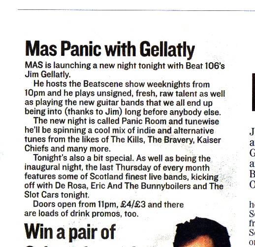 MAS PANIC WITH JIM GELLATLY: