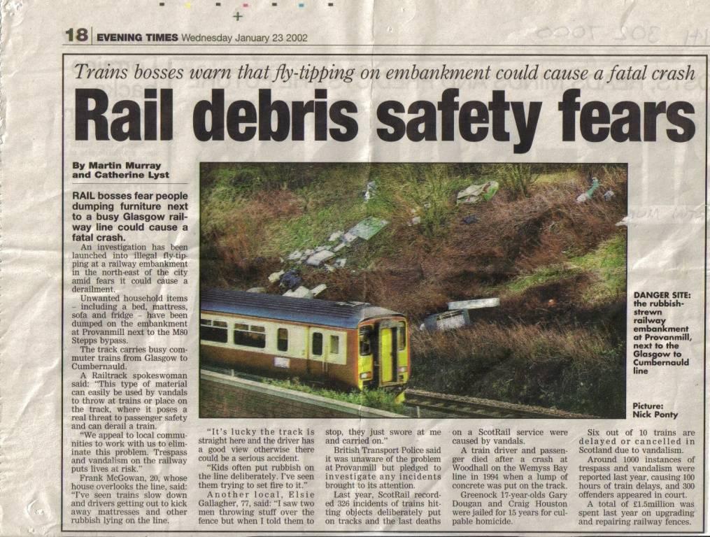 RAIL DEBRIS SAFETY FEARS: