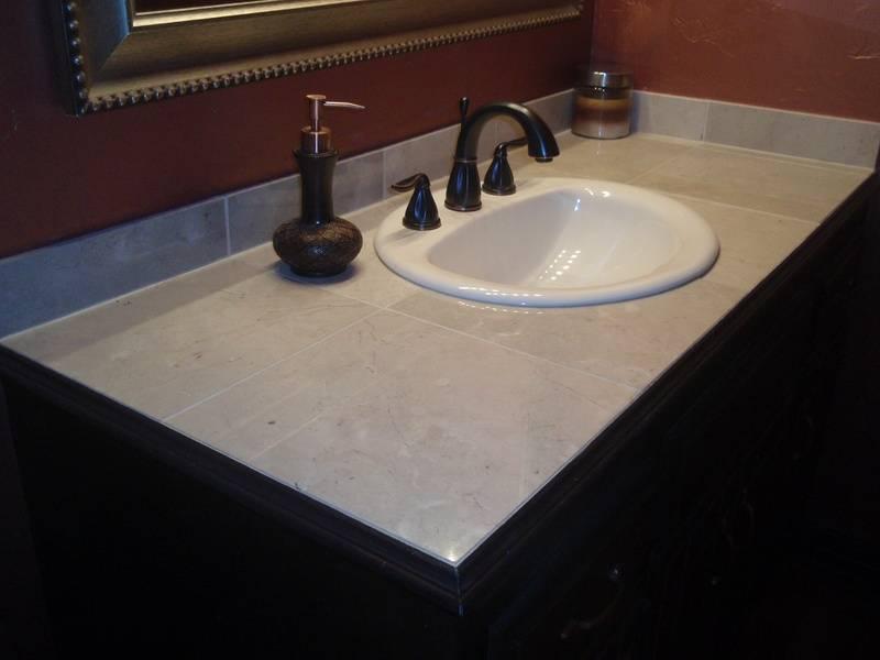 custom tile vanity top