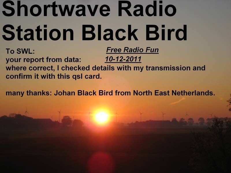 Shortwave Radio Station Black Bird