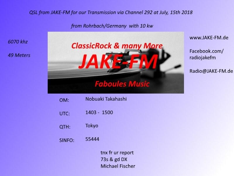 JAKE-FM via Channel292