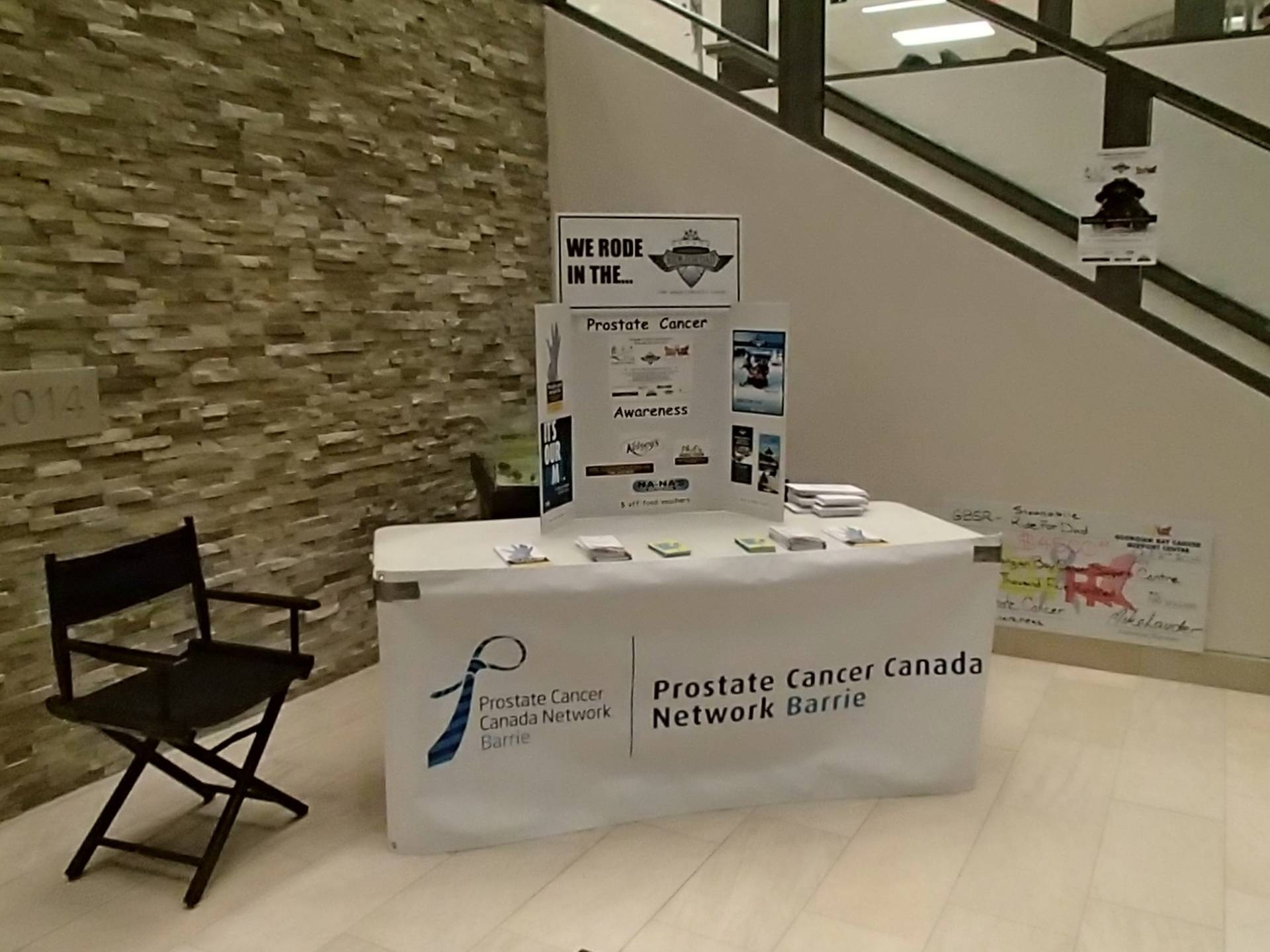 Prostate Cancer Booth at Waypoint Centre