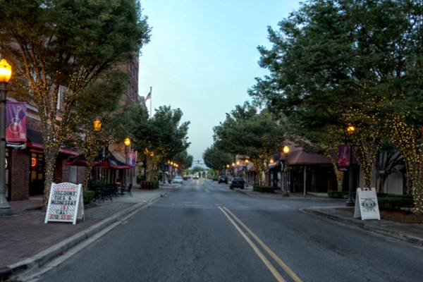 Evening on Main Street in Rock Hill, SC