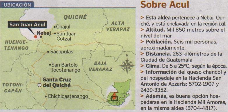 Mapa Ubicacion,  Acul
