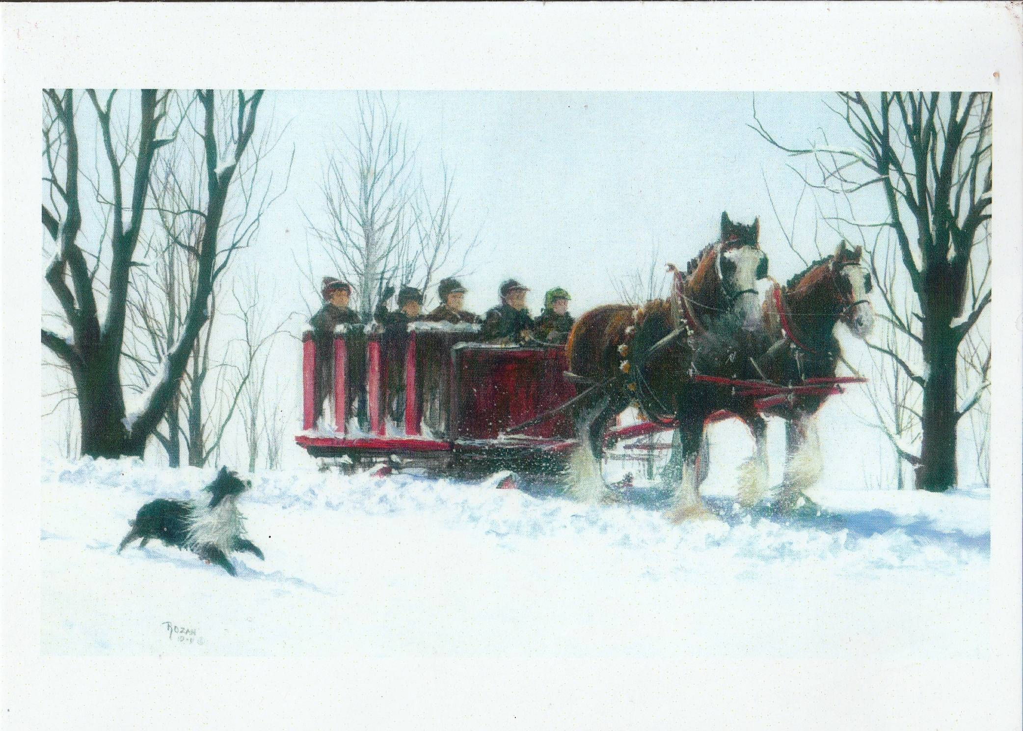 Early morning sleigh ride