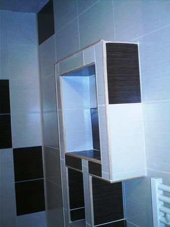 etajera mobila baie placat cu faianta