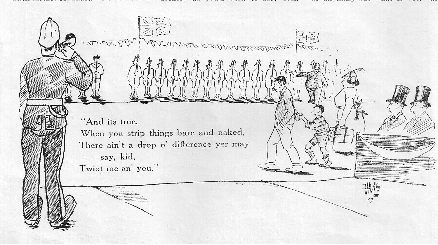 CCNews cartoon of opening ceremony 1927