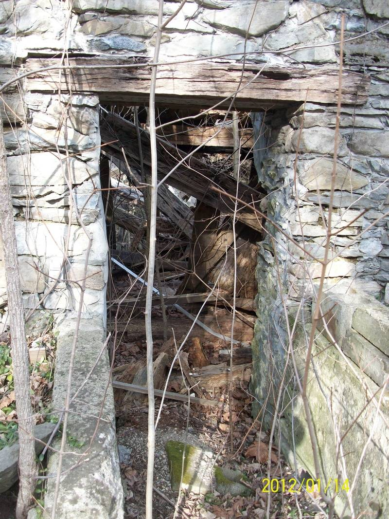 Inside the ruins of Griffen's Tavern
