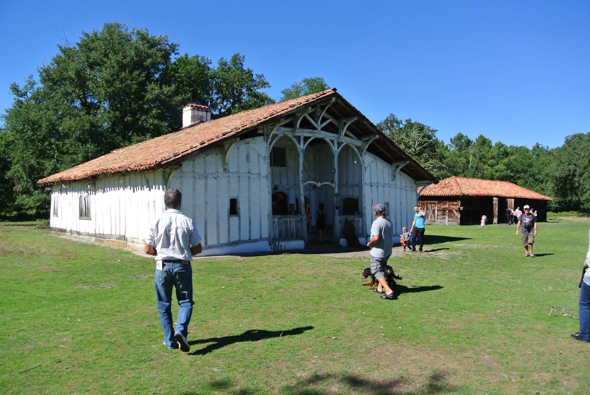 Preserved traditional Landes village